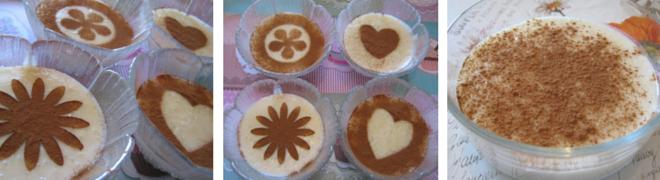 crema di riso - decorazioni