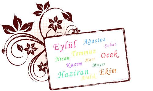 mesi dell'anno in turco