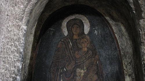 La Madonna con un sorriso così? Solo in Cappadocia!