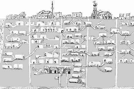 Le città sotterranee in Cappadocia