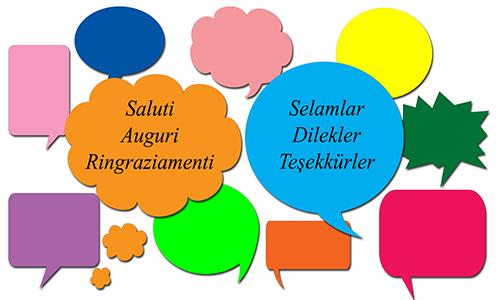 Saluti, auguri e ringraziamenti in turco
